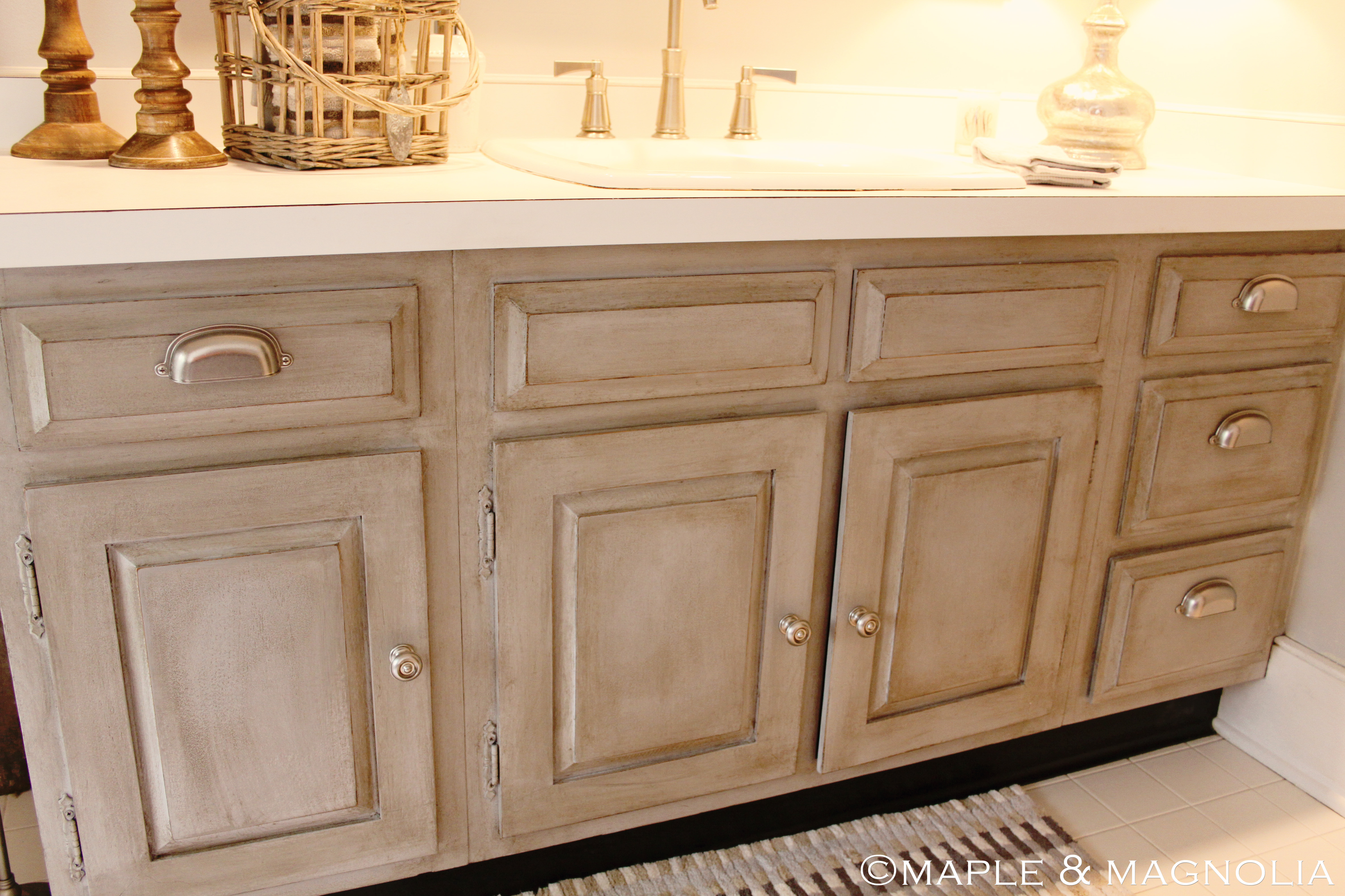Annie sloan chalk paint bathroom cabinets - So